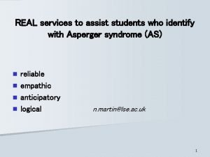 REAL services to assist students who identify with