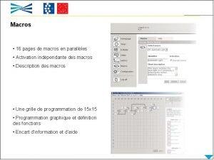 Macros 16 pages de macros en parallles Activation