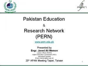 PAKISTAN EDUCATION RESEARCH NETWORK Pakistan Education Research Network