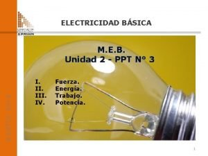 ELECTRICIDAD BSICA ADOTEC 2014 M E B Unidad