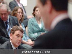 Strength of Facing Change Strength of Facing Change