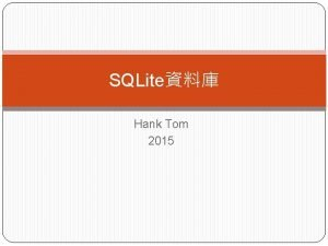 SQLite Hank Tom 2015 adb shell cd datacom