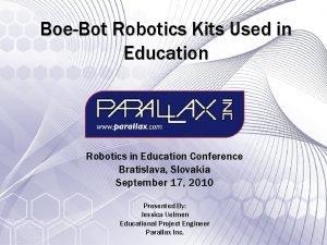 BoeBot Robotics Kits Used in Education Robotics in
