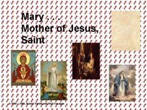 Mary Mother of Jesus Saint 1985 2004 Robert