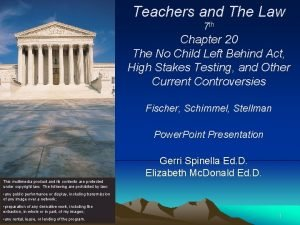 Teachers and The Law 7 th Chapter 20