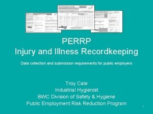 PERRP Injury and Illness Recordkeeping Data collection and