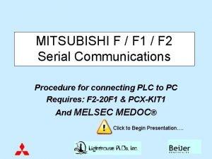MITSUBISHI F F 1 F 2 Serial Communications