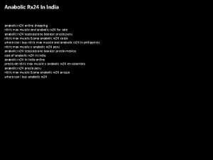 Anabolic Rx 24 In India anabolic rx 24