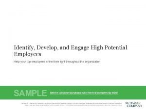 Identify Develop and Engage High Potential Employees Help