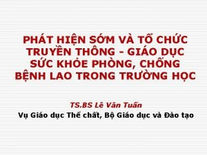 PHT HIN SM V T CHC TRUYN THNG