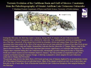 Tectonic Evolution of the Caribbean Basin and Gulf