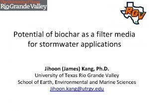 Potential of biochar as a filter media for