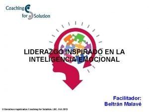 LIDERAZGO INSPIRADO EN LA INTELIGENCIA EMOCIONAL Facilitador Beltrn