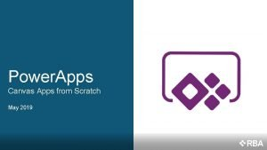 Power Apps Canvas Apps from Scratch May 2019