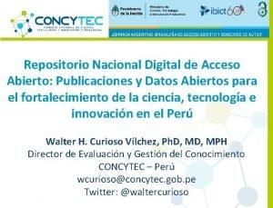 Repositorio Nacional Digital de Acceso Abierto Publicaciones y