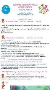 JOURNEE INTERNATIONALE DES EPILEPSIES VIVRE AVEC lundi 12