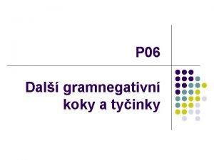 P 06 Dal gramnegativn koky a tyinky 1