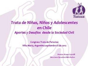 Trata de Nias Nios y Adolescentes en Chile