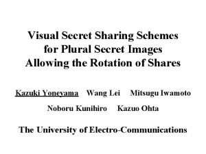 Visual Secret Sharing Schemes for Plural Secret Images