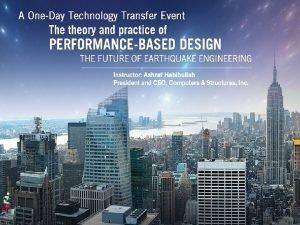 Nonlinear Analysis Performance Based Design Nonlinear Analysis Performance
