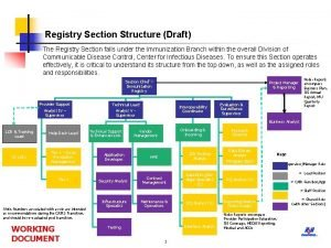 Registry Section Structure Draft The Registry Section falls