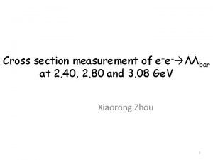 Cross section measurement of ee bar at 2