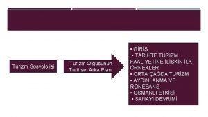 Turizm Sosyolojisi Turizm Olgusunun Tarihsel Arka Plan GR
