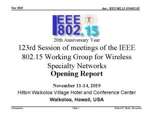 Nov 2019 doc IEEE 802 15 19 0492