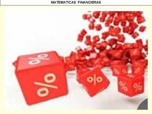 MATEMATICAS FINANCIERAS MATEMATICAS FINANCIERAS MATEMATICAS FINANCIERAS DESCUENTO COMPUESTO
