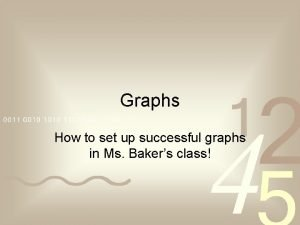 Graphs How to set up successful graphs in
