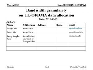 March 2015 doc IEEE 802 11 150354 r