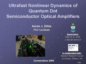 Ultrafast Nonlinear Dynamics of Quantum Dot Semiconductor Optical