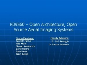 R 09560 Open Architecture Open Source Aerial Imaging