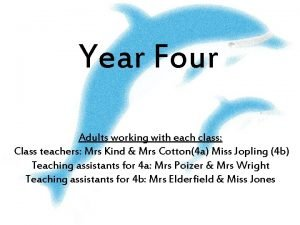 Year Four Adults working with each class Class