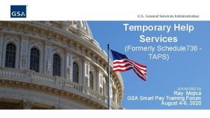 U S General Services Administration Temporary Help Services