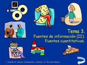 Tema 3 Fuentes de informacin II Fuentes cuantitativas
