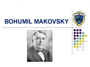 BOHUMIL MAKOVSKY BASICS l l l Band professor