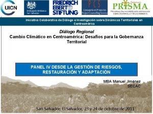 Iniciativa Colaborativa de Dilogo e Investigacin sobre Dinmicas
