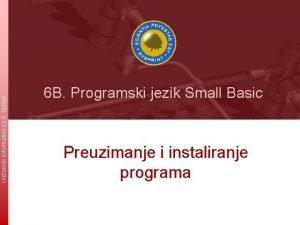 Udbenik informatike za 8 razred 6 B Programski