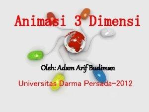 Animasi 3 Dimensi Oleh Adam Arif Budiman Universitas