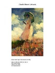 Claude Monet Ph n 04 Claude Monet Ngi