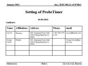January 2013 doc IEEE 802 11 120788 r
