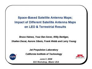 SpaceBased Satellite Antenna Maps Impact of Different Satellite
