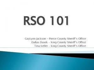 RSO 101 Gay Lynn Jackson Pierce County Sheriffs