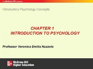 Introductory Psychology Concepts CHAPTER 1 INTRODUCTION TO PSYCHOLOGY