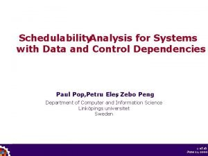 Schedulability Analysis for Systems with Data and Control