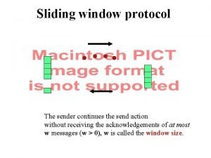 Sliding window protocol The sender continues the send