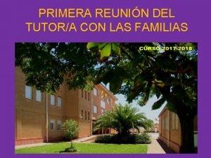 PRIMERA REUNIN DEL TUTORA CON LAS FAMILIAS Calendario