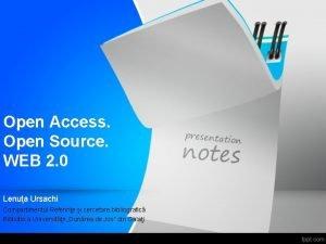 Open Access Open Source WEB 2 0 Lenua