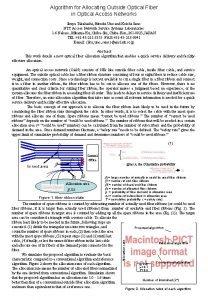 Algorithm for Allocating Outside Optical Fiber in Optical